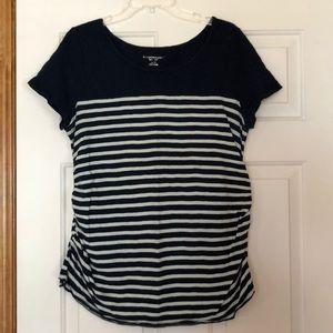 Maternity top, XL, navy and aqua